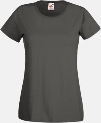Light Graphite Figursydd damt-shirt med reklamtryck