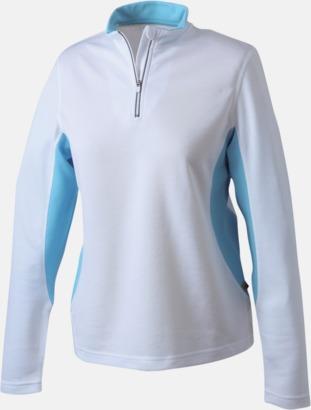 Vit/Ocean Träningskläder med eget tryck