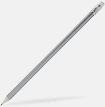 Silver Runda blyertspennor med reklamtryck