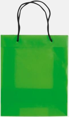 Transparent Ljusgrön (endast medium) Butikskassar i 2 storlekar med reklamtryck