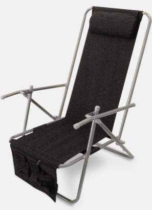 Svart (de luxe) Lyxig brassestol med kudde och väska