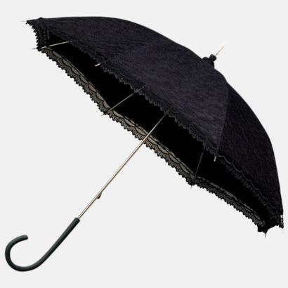Svart Unika paraplyer med eget tryck