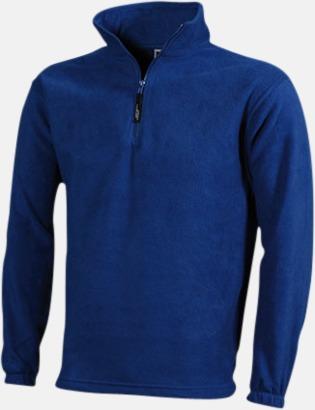 Blå Fleecetröja med eget tryck