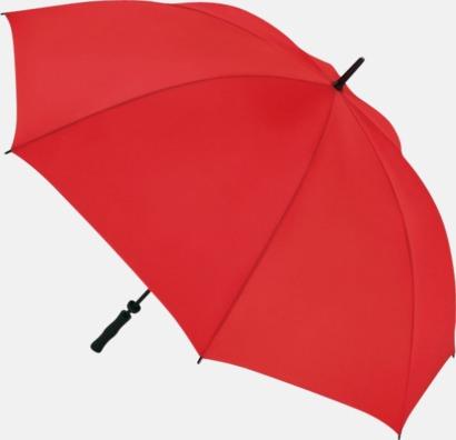 Röd Golfparaplyer med eget tryck