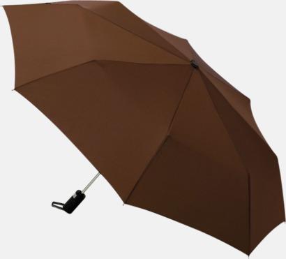 Chokladbrun Kompaktparaplyer med automatisk uppfällning