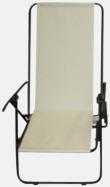 Vit (enkel) Lyxig brassestol med kudde och väska