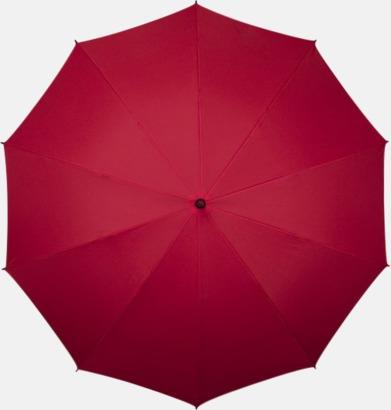 Röd Stora golfparaplyer med eget tryck