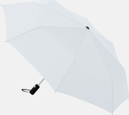 Vit Kompaktparaplyer med automatisk uppfällning