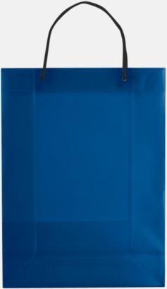 Transparent Blå (stor) Butikskassar i 2 storlekar med reklamtryck