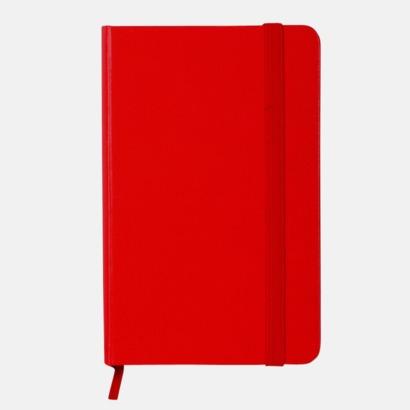 Röd Anteckningsbok A5 i konstläder med tryck