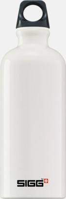 Vit (0,6 liter) Äkta SIGG-flaskor med eget tryck