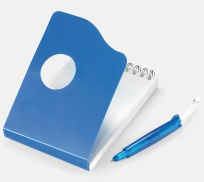 Svart Kompakta notisblock med penna - med tryck