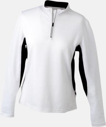 Vit/Svart Träningskläder med eget tryck