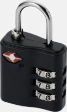 TSA-godkända hänglås med reklamtryck