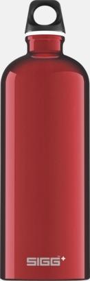Röd (1,0 liter) Äkta SIGG-flaskor med eget tryck