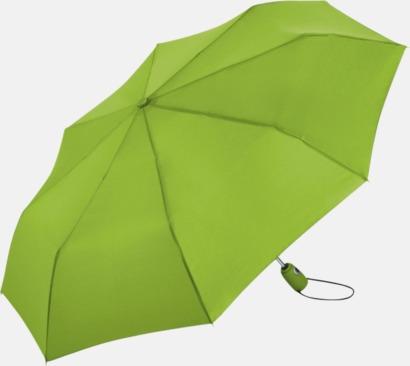 Limegrön Kompakta paraplyer med eget tryck