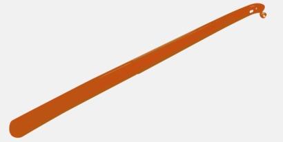 Orange Långa skohorn med tryck