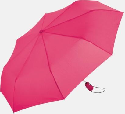 Magenta Kompakta paraplyer med eget tryck
