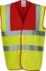 Hi-Vis Yellow/Röd Färgglada säkerhetsvästar med reklamtryck