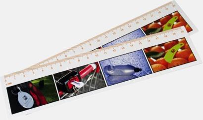 Vit 20 cm-skallinjal med reklamtryck