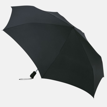 Svart Basildon Kompakt - Paraplyer Med tryck