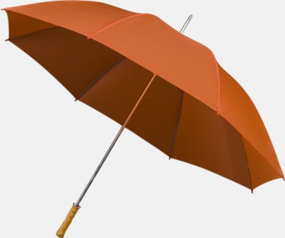 Orange Paraplyer med tryck