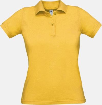 Gold Pikétröjor med tryck för dam