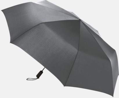 Grå Stormsäkert kompaktparaply med eget tryck