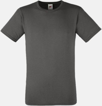 Light Graphite Tajtare reklamt-shirt med figurnära passform