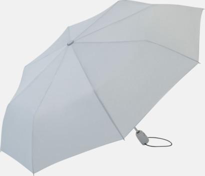 Ljusgrå Kompakta paraplyer med eget tryck
