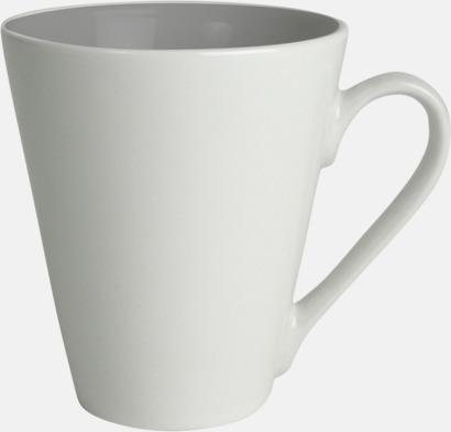 Grå / Vit Kaffemuggar med färgad insida