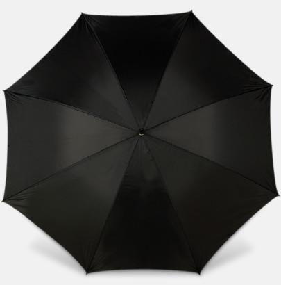 Svart Paraplyer med bärrem - med reklamtryck