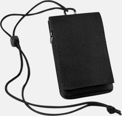 Svart Mobilfodral och plånbok