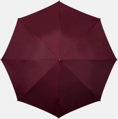 Vinröd Paraplyer med tryck