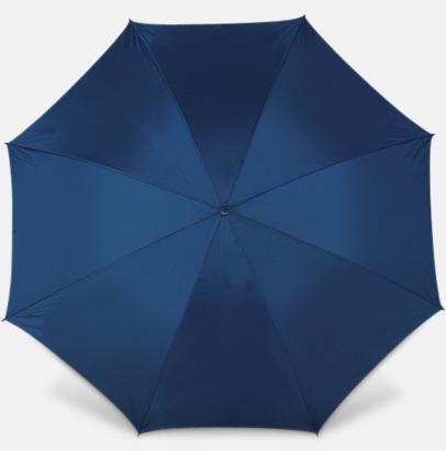 Marinblå Paraplyer med bärrem - med reklamtryck