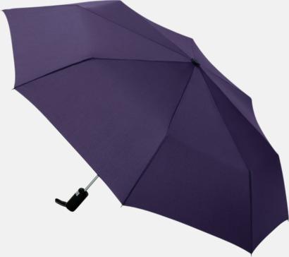 Aubergine Kompaktparaplyer med automatisk uppfällning