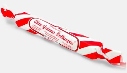 Röd Äkta polkagrisar från Gränna med eget tryck
