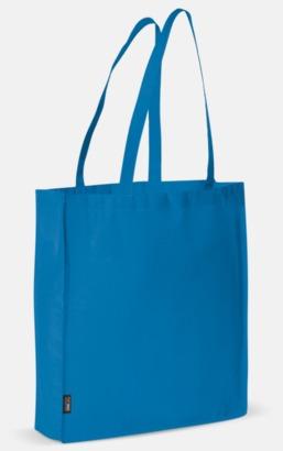 Blå Miljövänlig bärkasse med eget tryck