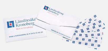 Pappersask med plåster - med reklamtryck
