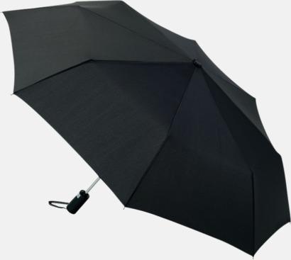 Svart Kompaktparaplyer med automatisk uppfällning