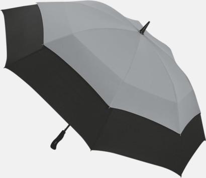 Ljusgrå / Svart Vårt bästa golfparaply med tryck