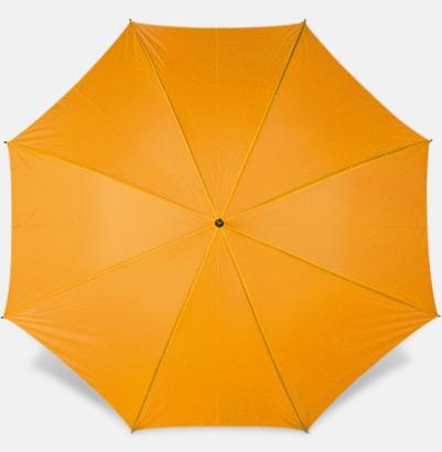 Orange Paraplyer med bärrem - med reklamtryck