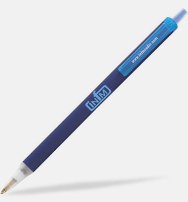 Marinblå Bic pennor med eget tryck