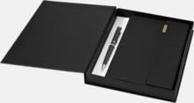 Gåvoset med penna och A5-anteckningsbok från Balmain med reklamlogo