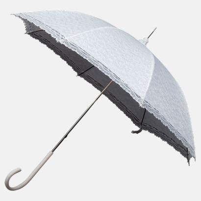 Vit Unika paraplyer med eget tryck