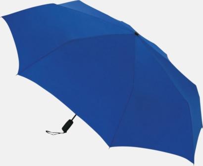 Blå Stormsäkert kompaktparaply med eget tryck
