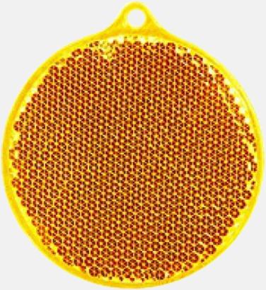 Orange Klassisk reflexbricka med reklamtryck