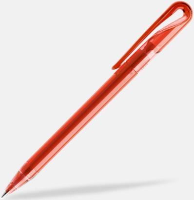 Röd (transparent) Frostade eller solida reklampennor med egen logga från Schweiziska Prodir