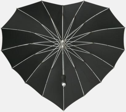 Hjärtformade paraplyer med eget tryck