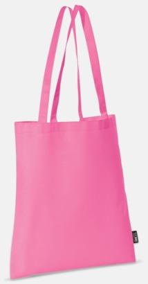 Rosa (långa handtag) Billiga kassar med korta eller långa handtag - med reklamtryck